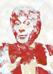 bbc doctor who gallifrey watercolor classic third doctor 3rd