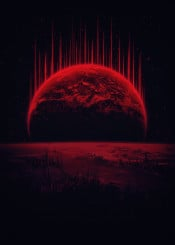 space universe galaxy planet home alien sci fi awesome red navy black stars earth futur