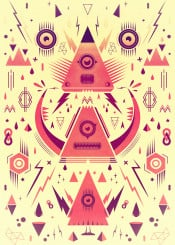 geometric triangle pattern symmetry minimal retro vintage