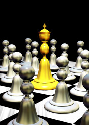 king chess chessboard 3d leader boss power game concept gold people subjects vassals digitalart lord