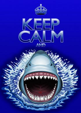 keepcalm shark jaws attack danger humour meme parody illustration teeth bladelike oceanlife sealife