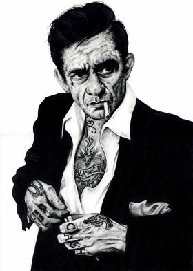 Tattoo Johnnycash Johnny Cash Inked Ikons Music Legend