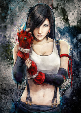 tifa lockhart final fantasy 7 ffvii ff7 playstation avalanche woman sexy hot game fighter beautiful