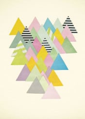 mountains abstract landscape geometric pastels nature alps triangles shapes minimal simple stripes