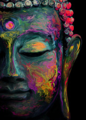 buddha inner peace flame oriental asian colours karma bodhi tree still calm relaxed subtle painting