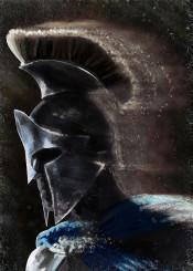 greek warrior spartan 300 athenian history helmet cracks blue dark brown man men him concept speed