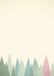 mountains landscape abstract collage minimal simple sage green rose pink nature modern pale pastel