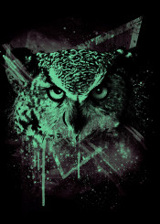 owl cosmic animals space astrology print stars wild