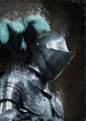 medieval knight dark ages history armor middle ages metal cracks brown blue men warrior sir cavalier