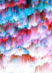 rain colors abstract digital