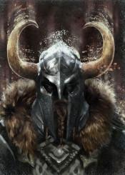 viking warrior helmet horns history gamer men him dark brown legend metal northern celtic runes man