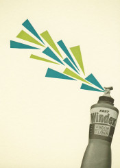 collage surreal geometric shapes triangles popart humour teal lime green vintage retro funny