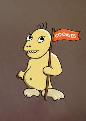 cookie monster cookies monsters cookies cute character characters funny cartoon flag