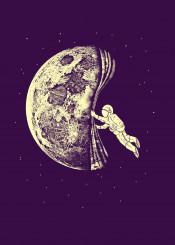 astronaut space art illustration