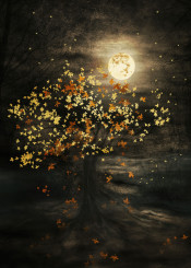 landscape nature illustration digital love tree moon