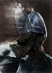 nordic warrior backlight winged helmet europe man fighter brave brown sketch battle protect soldier