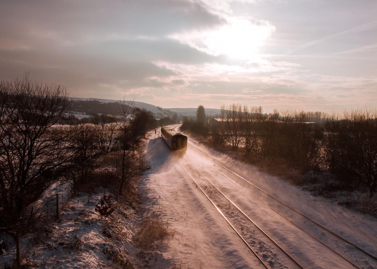 Littleborough Line - Winter Sunset