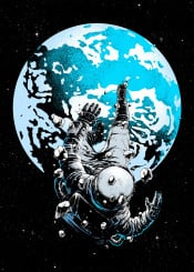 space astronaut lost carbine earth