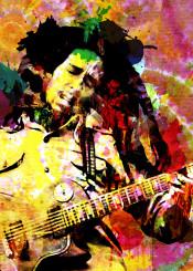 bob marley painting reggae art print reggae wall art tye die poster bob marley original art