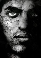 art digital man black white
