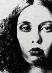 art digital woman charcoal black white