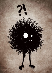 evil character gothic creature bug goth vintage texture funny strange odd grunge hairy