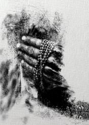 art digital hands black white man