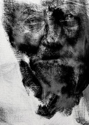 art digital man black white charcoal
