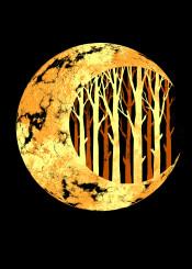 nature moon nature space art design illustration