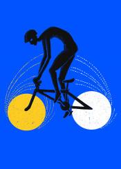 night and day moon sun bike art design
