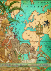 escape turquoise map old vintage travel traveller exotic antique cream summer tropical explore trip