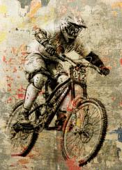 art digital bike texture sports