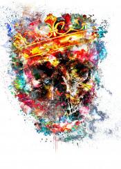 graphic design halloween skeleton scary artwork spirit spooky digital gold glitter antique decoratio