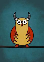 owl owls funny cartoon horns texture animal bird illustration cute