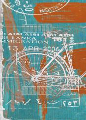 art digital bike travel colors