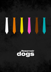 reservoir dogs minimal movie poster tarantino design poster movie film graphic minimal artwork