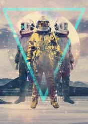 astronaut space triangle landscape transition lost cool sci fi glitch lost interstellar cool fantasy