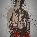 """Italian Stallion"" Splatter effect artwork inspired by Rocky"