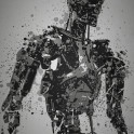 """Machine"" Splatter effect artwork inspired by Terminator"