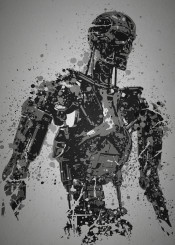 terminator t800 arnold schwarzenegger judgement day robots machines grey pop culture splatter movie