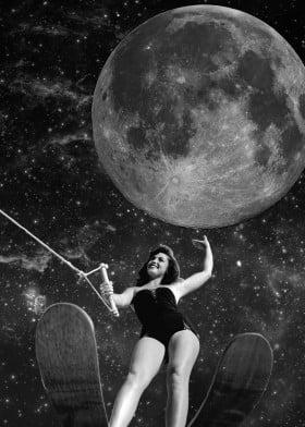 collage vintage black and white retro