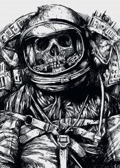 astronaut death skull space skeleton carbine