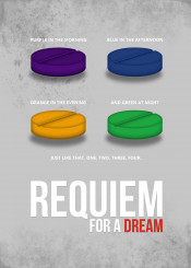 requiem for a dream minimal movie poster pill minimalistic color grey