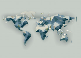 map world polygon low poly triangle triangular mesh