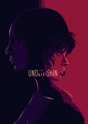under the skin typo movie film poster glitch pop art girl sacrlet johanson color design