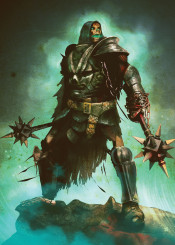 lord skulls undead warrior mace magic necro