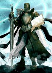 holy knight paladin human armor sword