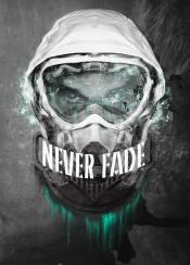 helmet never fade blast glass shatter splatter black and white astronaut motivational poster cool