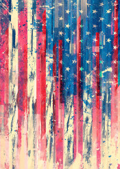 usa america american amerika flag art artwork abstract painting design dust textured national nation
