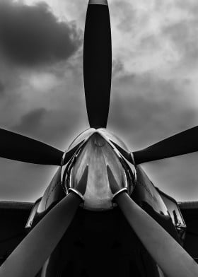Black And White Aircraft Photography By PopCulArt